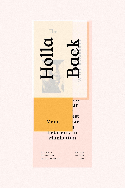 Typographic design on print media