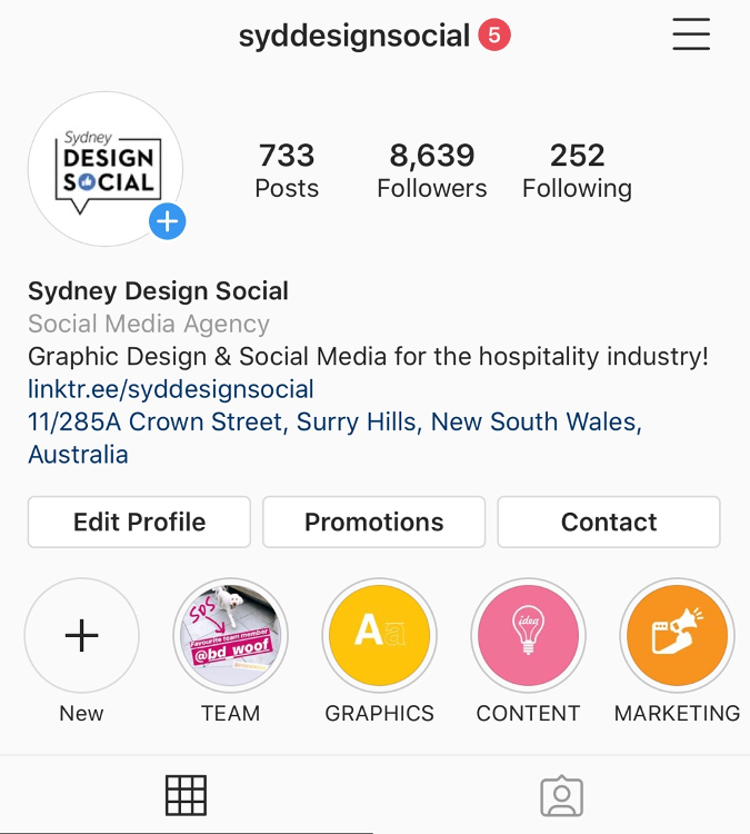 Set up a business profile on Instagram