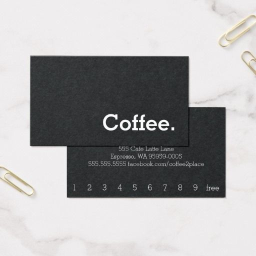 Business card that doubles as a coffee loyalty card