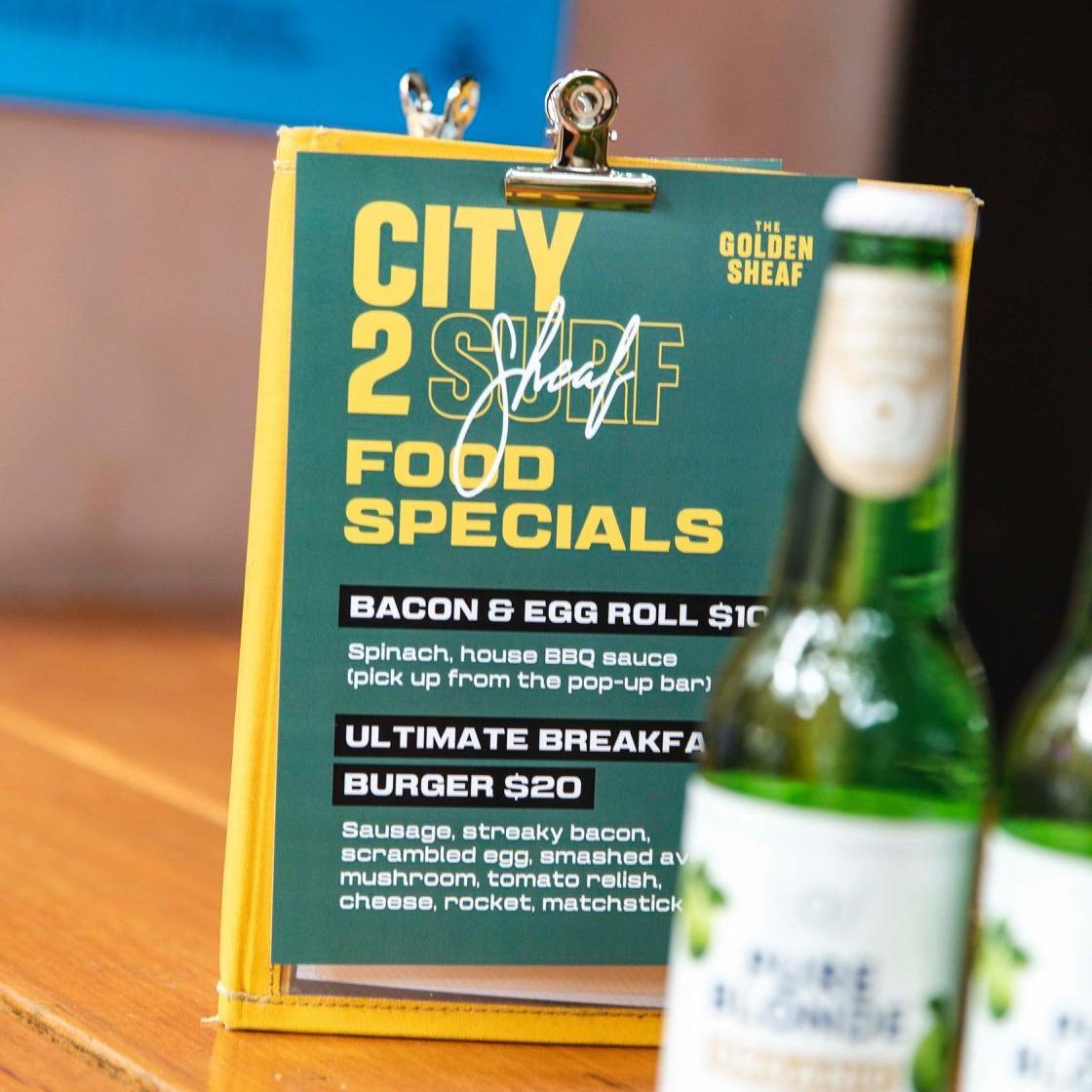 sydney design social golden sheaf hotel double bay city to sheaf surf menu design