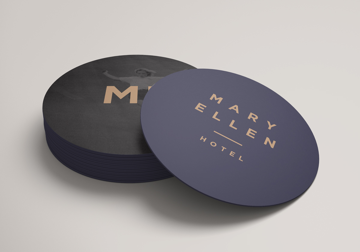 coaster designs for Mary Ellen Hotel