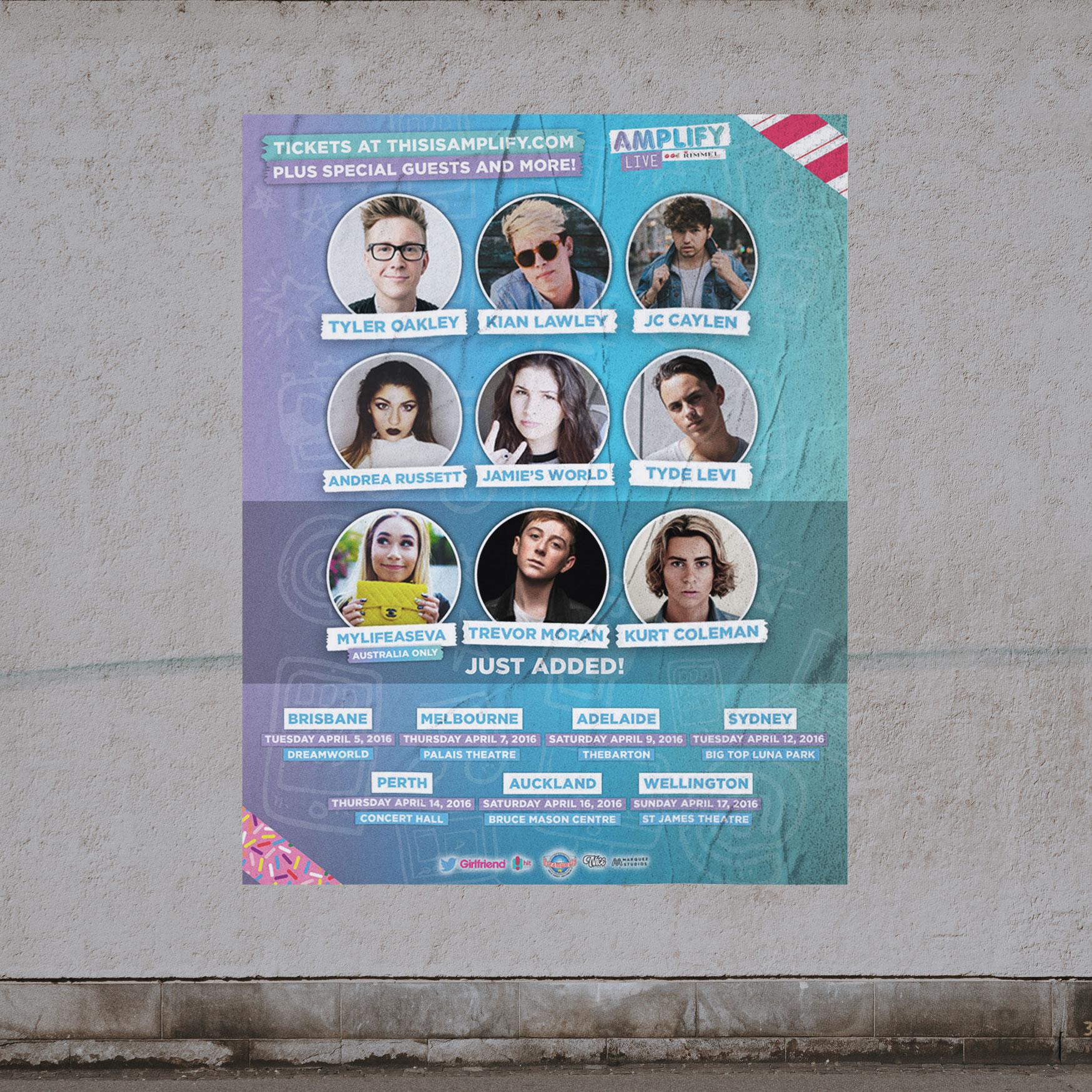 sydney design social amplify live brand event poster kurt coleman