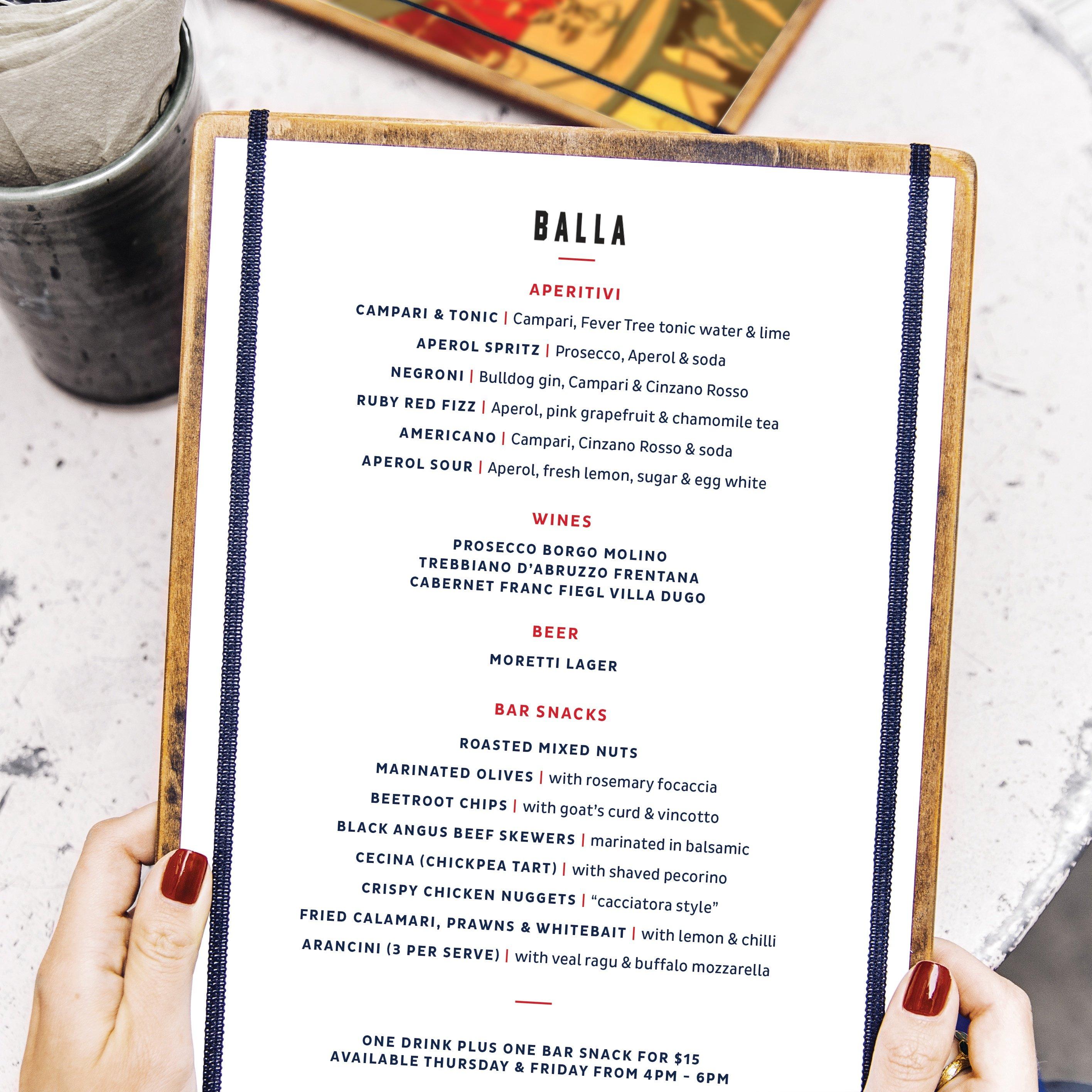 sydney design social menu design