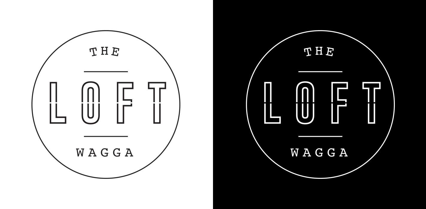 sydney-design-social-loft-wagga-logo-branding-black-white