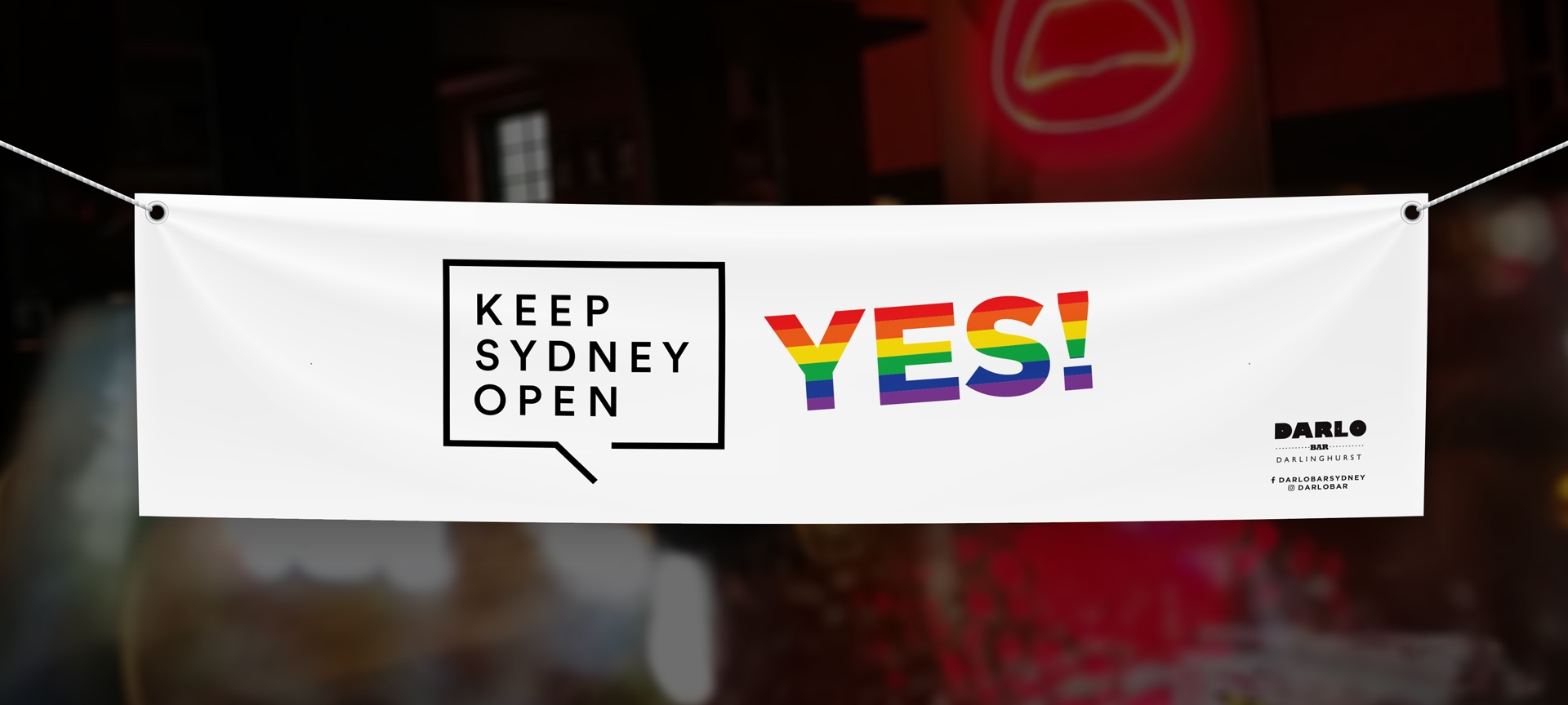 sydney design social banner design for darlo bar