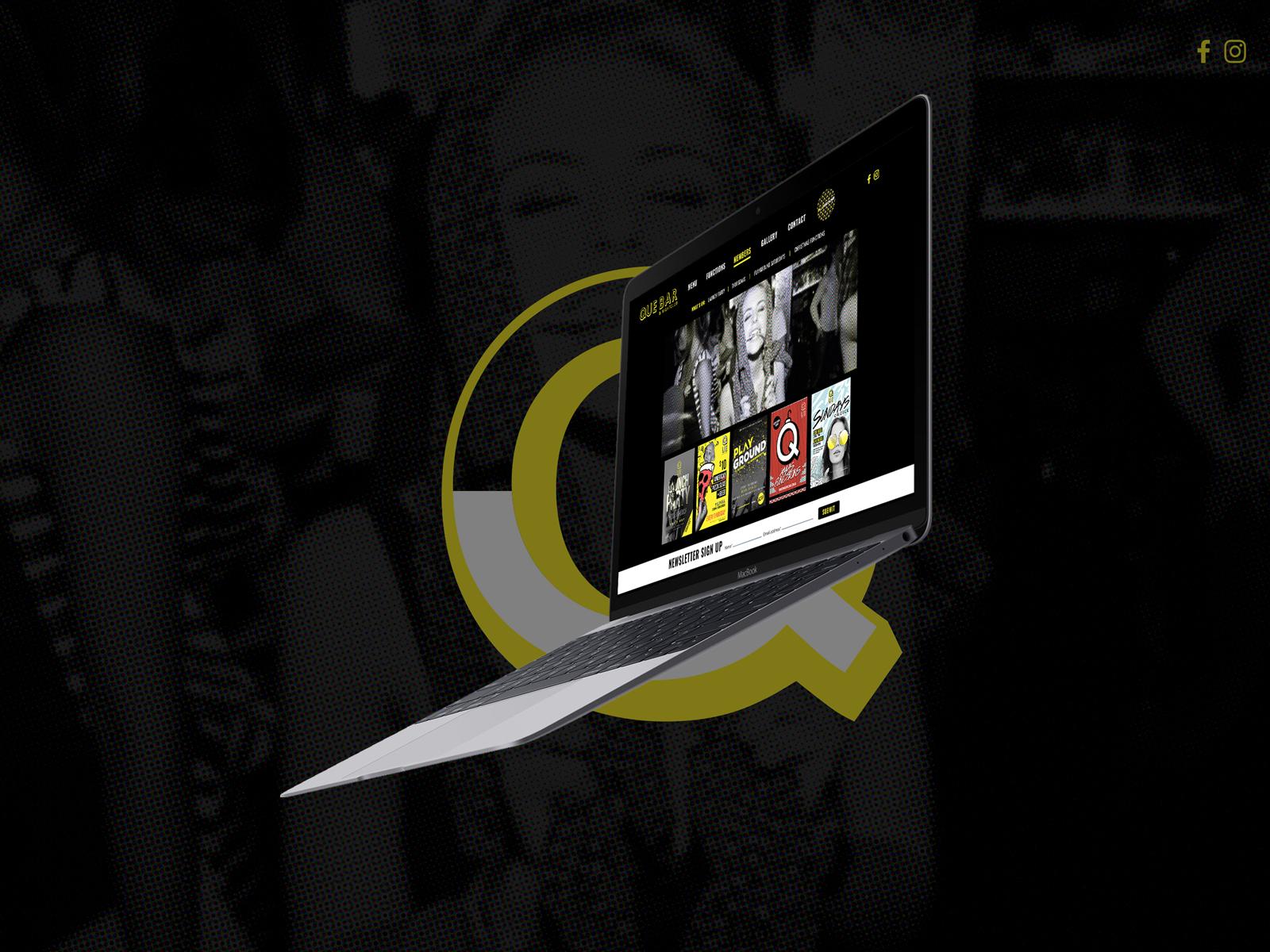 sydney-design-social-que-wagga-website-floating-laptop-homescreen