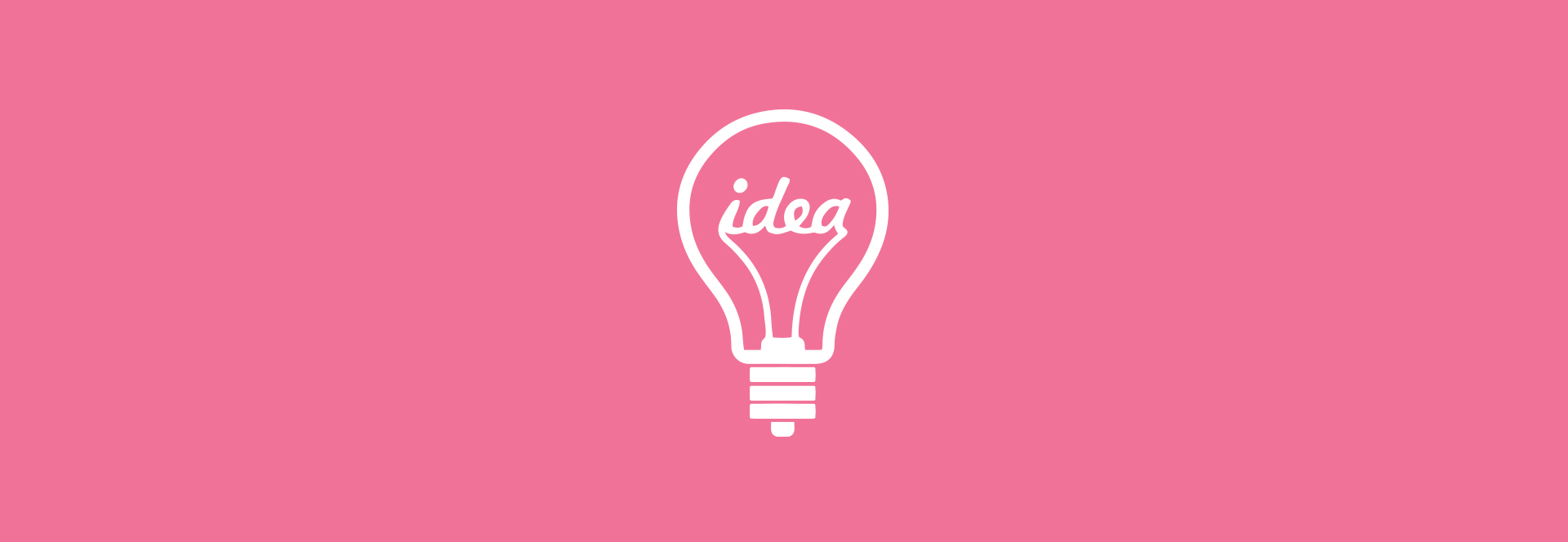 pink box with lightbulb icon idea creative content