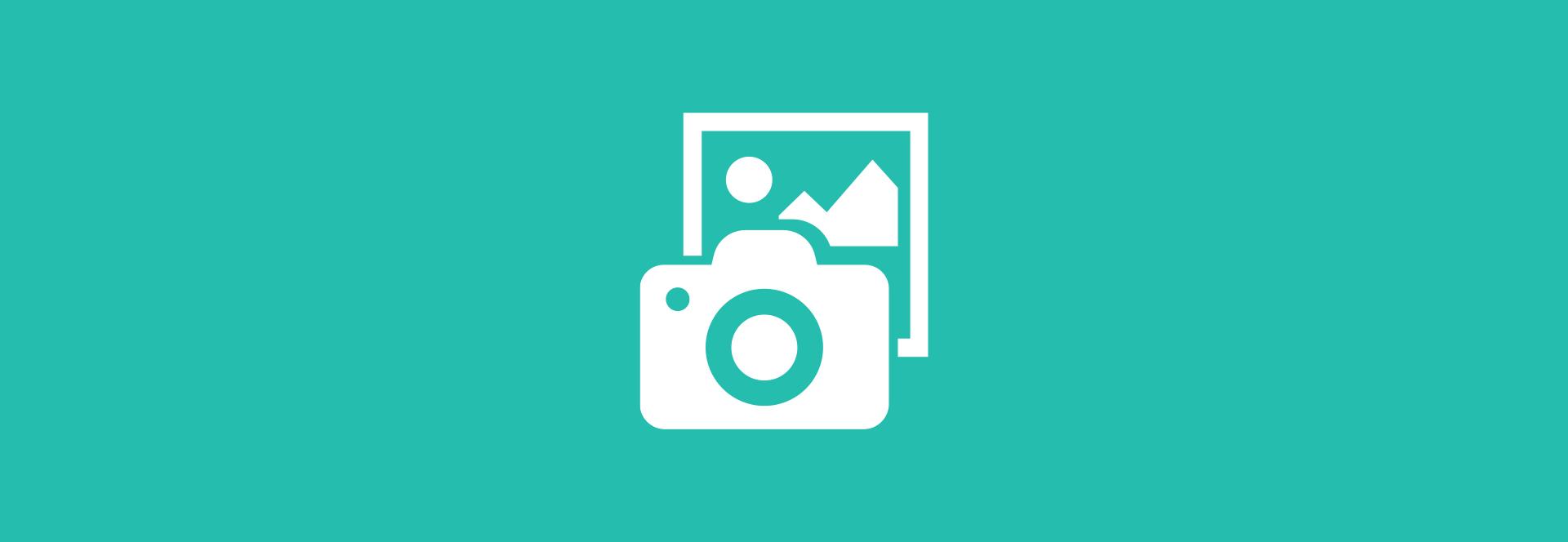 sydney design social camera image icon on aqua