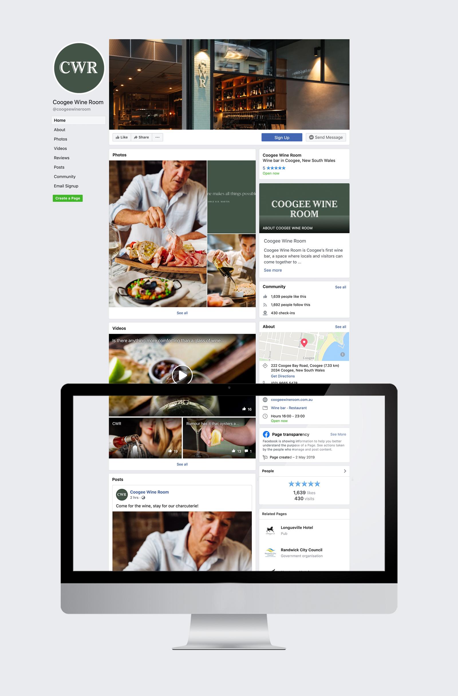 sydney design social coogee wine room social media management