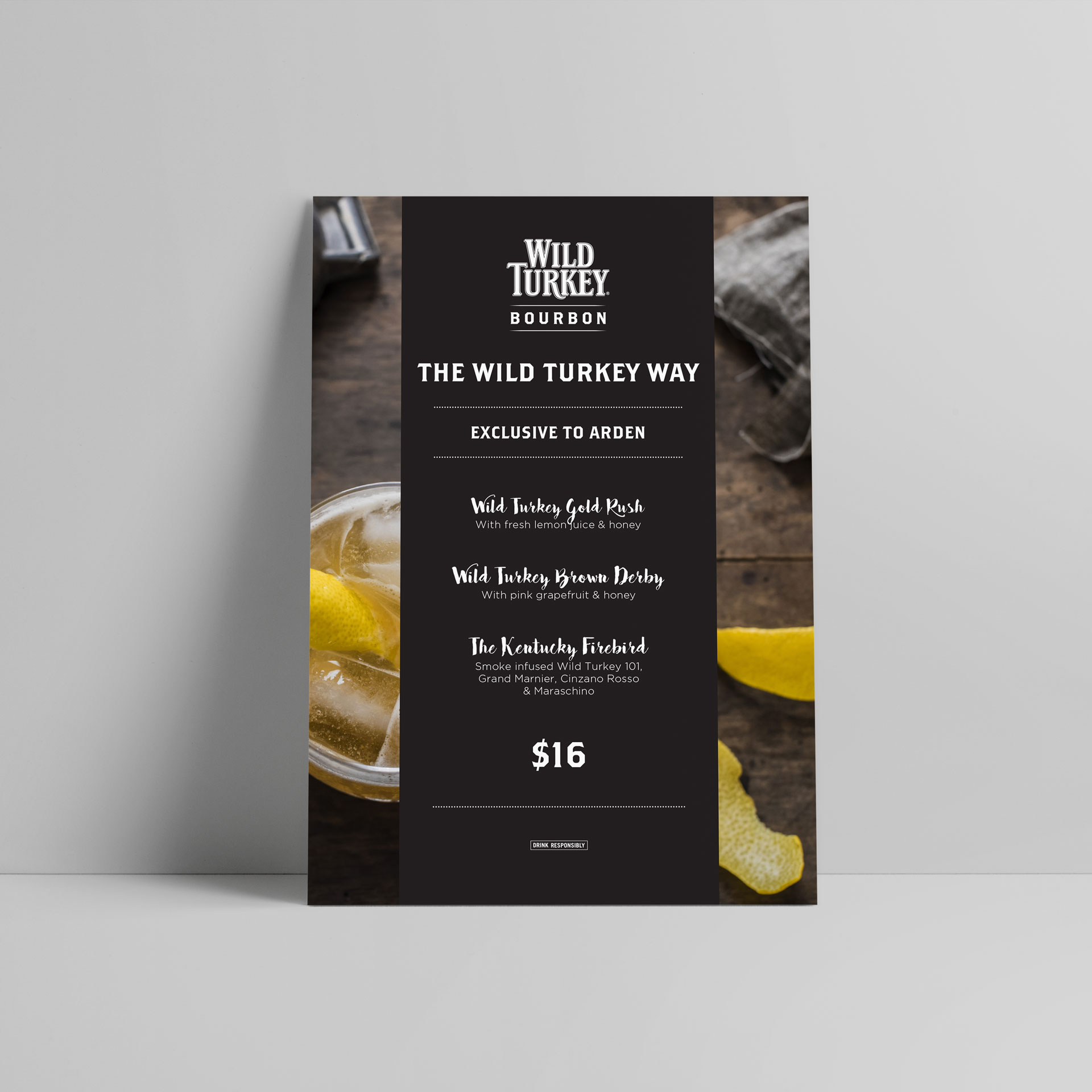 menu design for wild turkey
