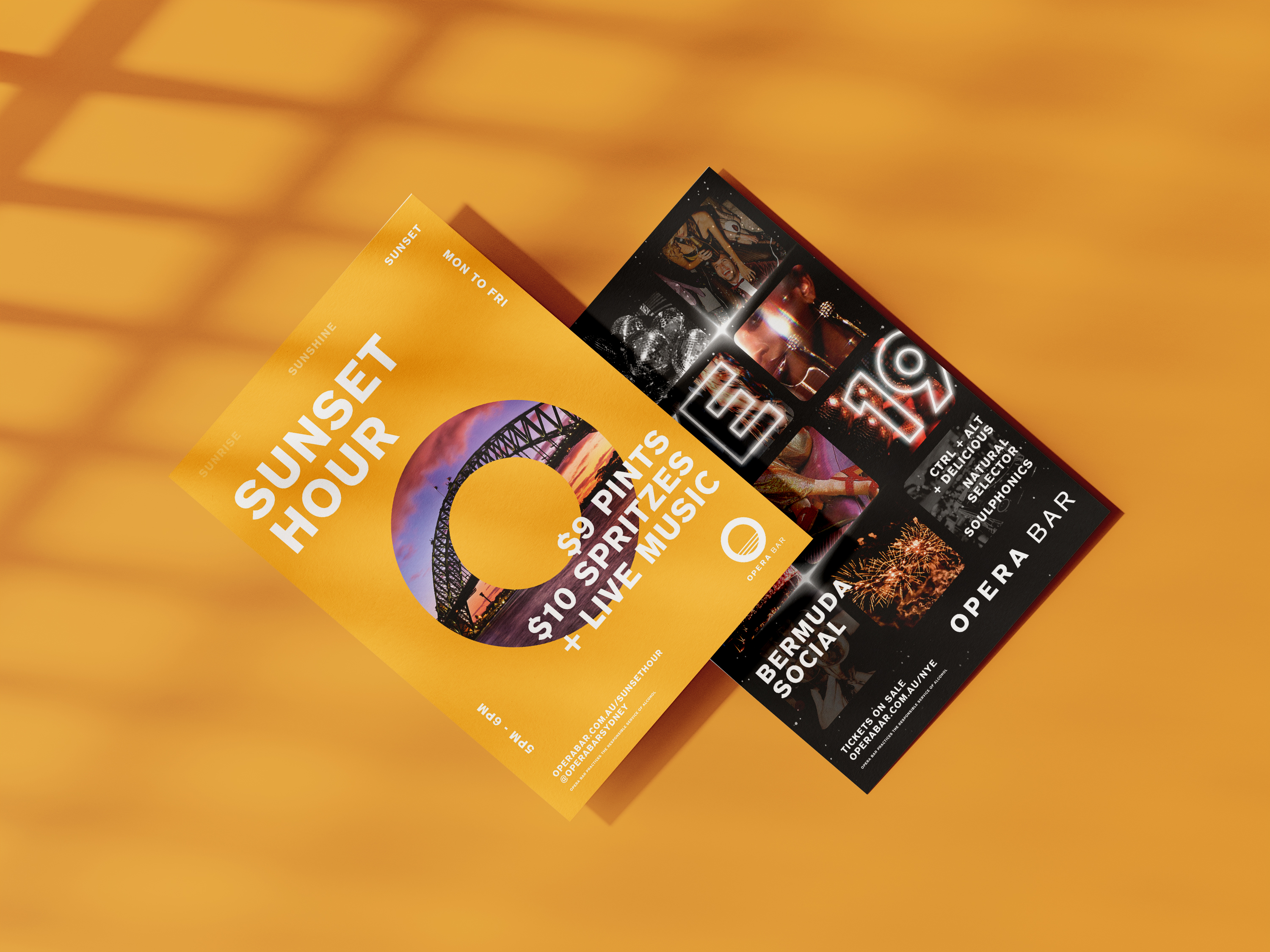 flyer print design for sydney opera bar