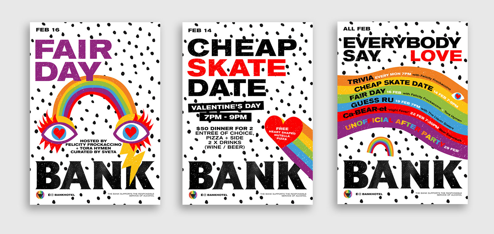 sydney design social bank hotel newtown mardi gras fair day poster design