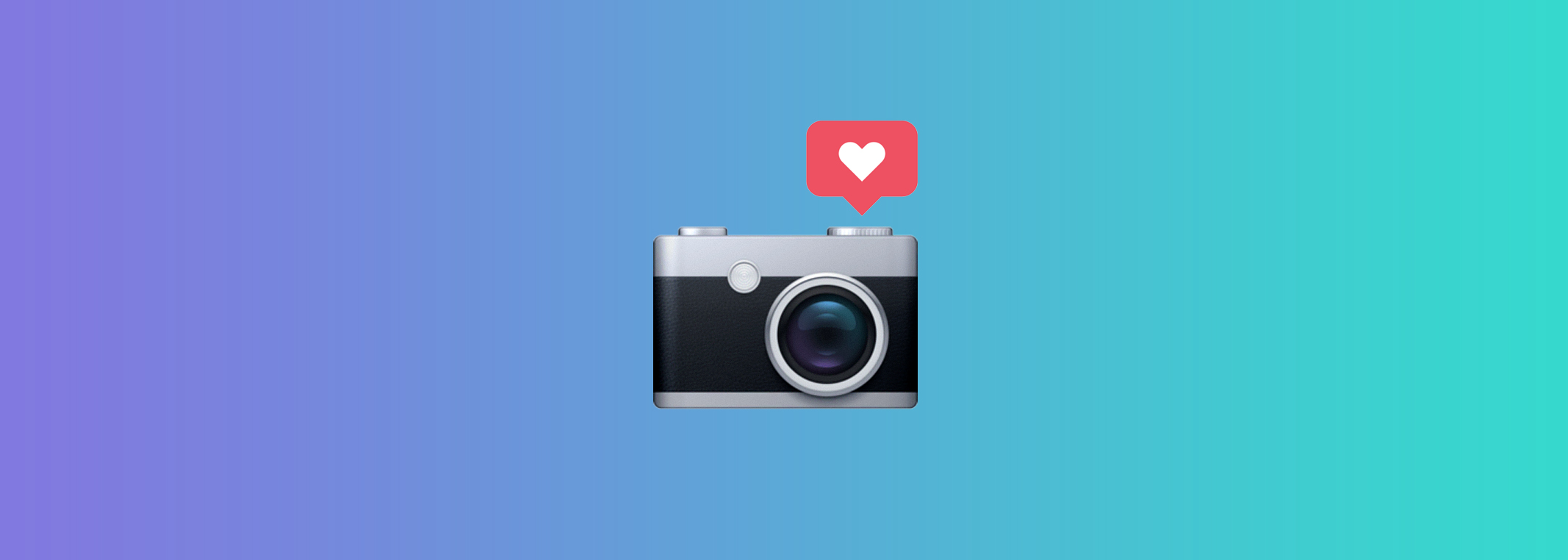 Camera showing social media likes