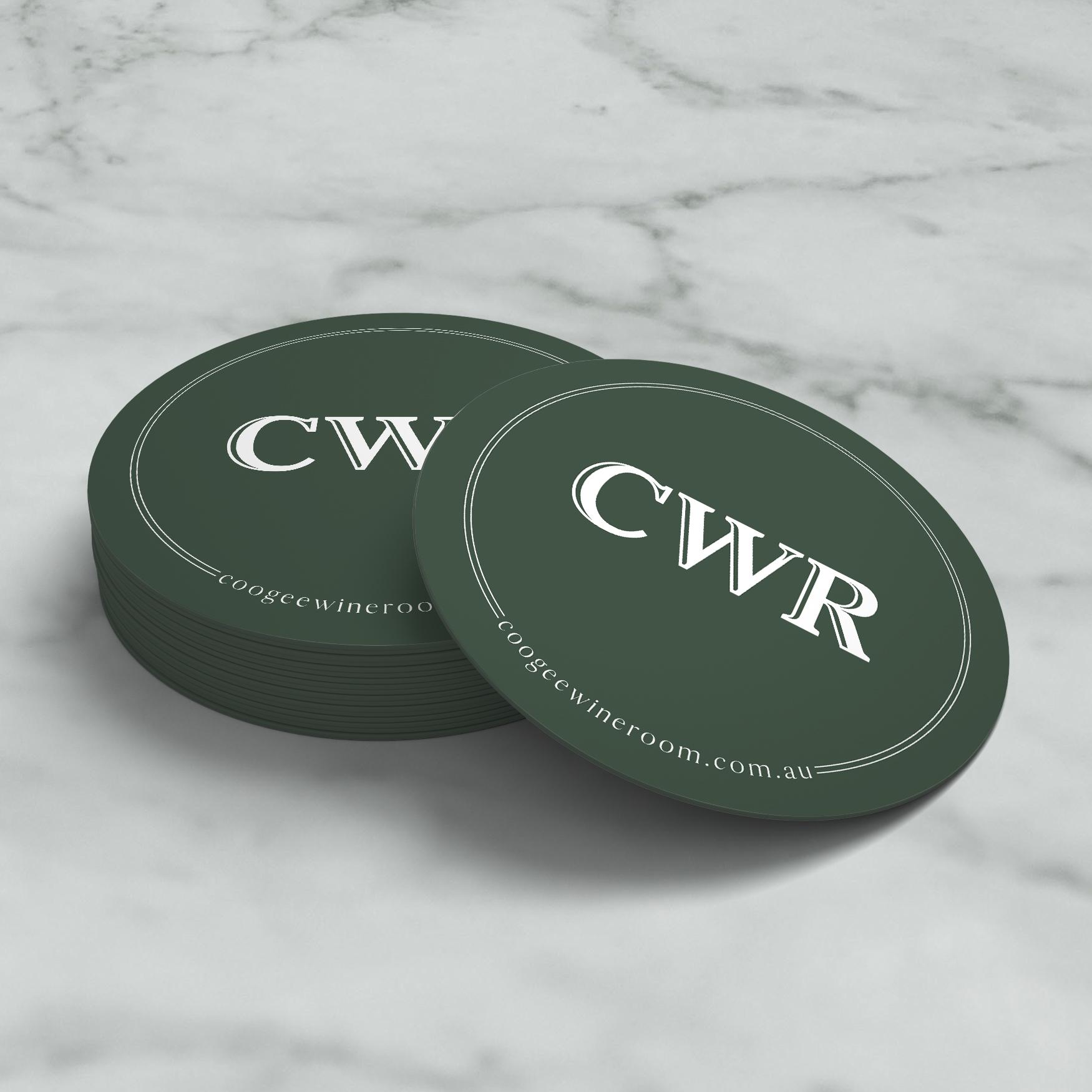 sydney design social coogee wine room logo branding coasters