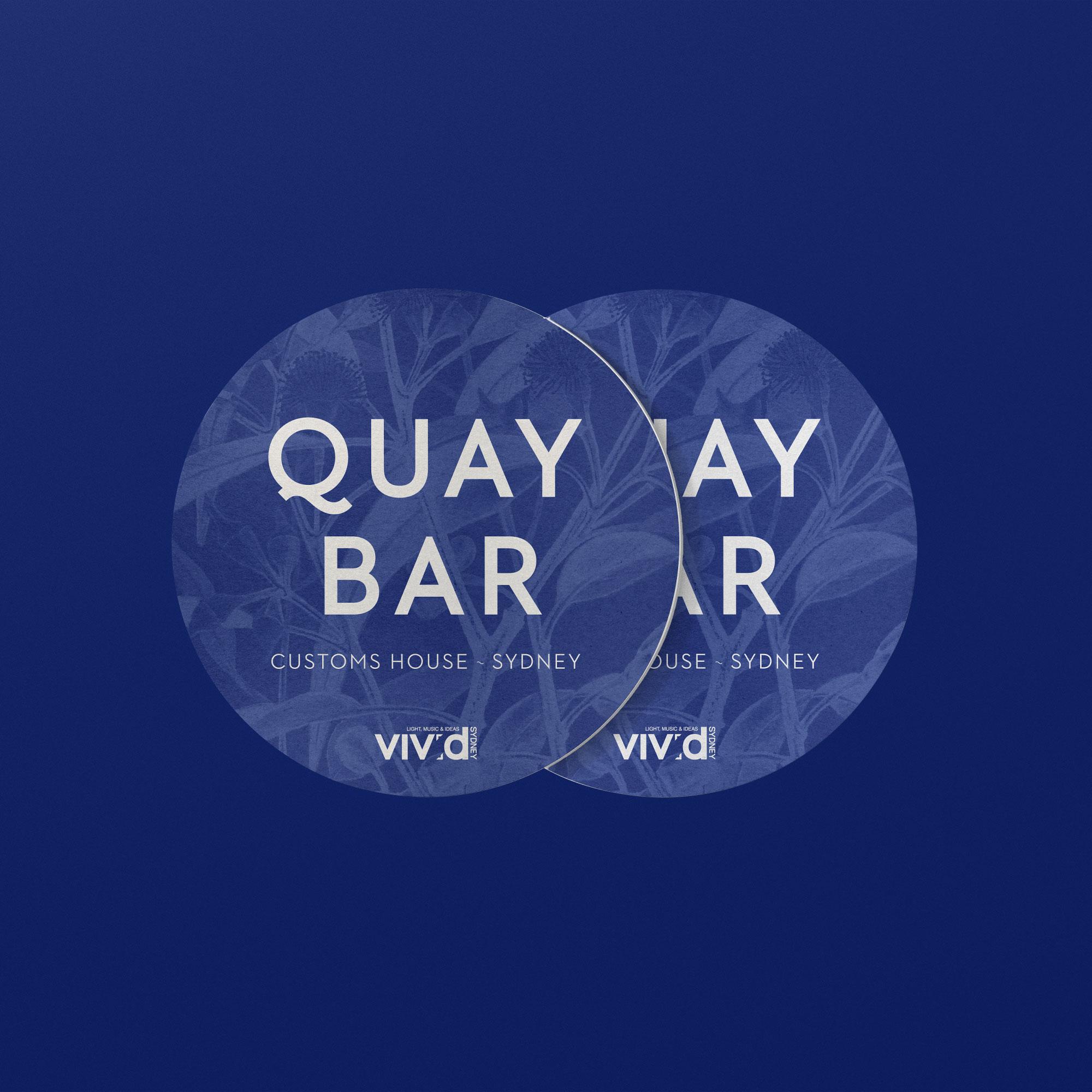 sydney design social coaster design Quay Bar