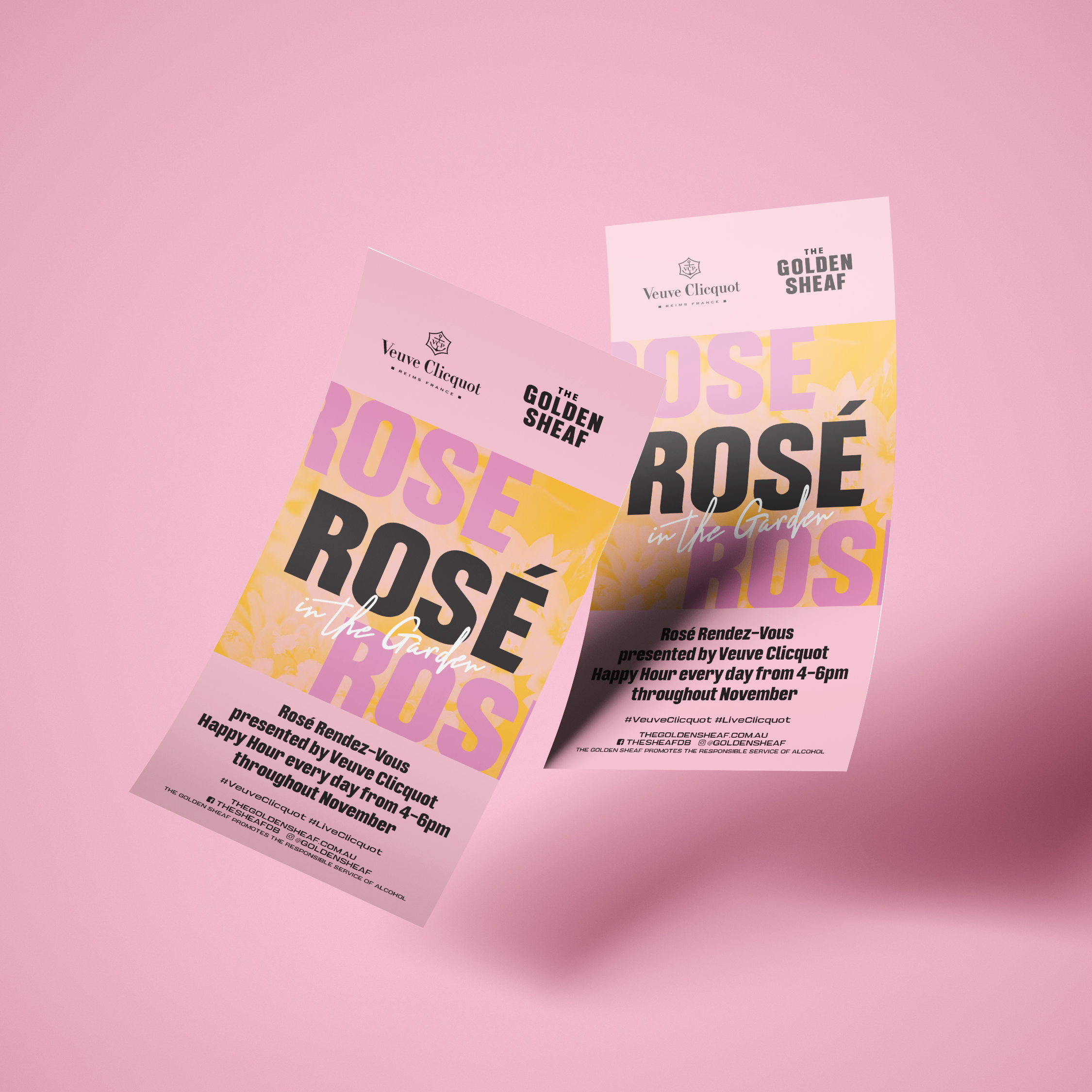 sydney design social golden sheaf double bay rose in the garden flyer design