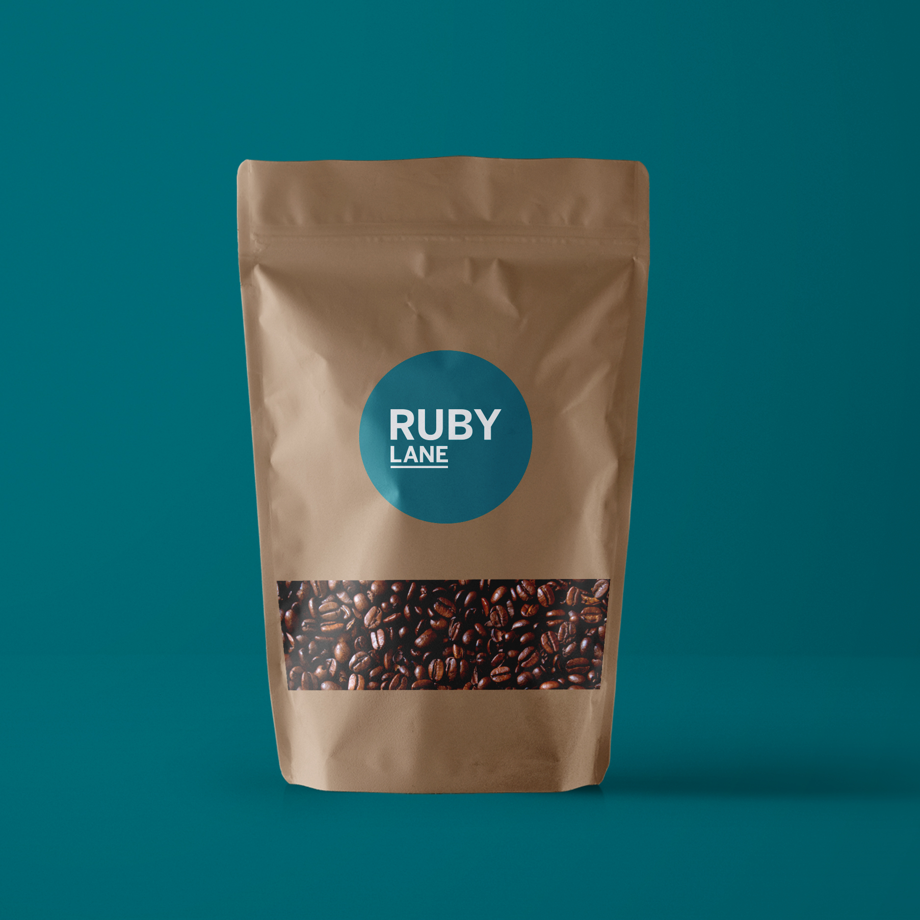 sydney-design-social-teal-ruby-lane-logo-sticker-coffee-brown-paper-bag-packaging